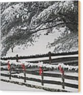 Country Christmas Wood Print