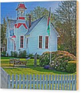 Country Church In Oysterville Wa Wood Print