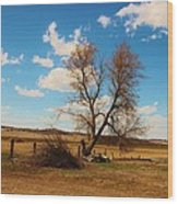 Country Clouds Wood Print