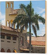 Country Club Of Coral Gables Wood Print
