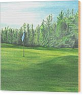Country Club Wood Print