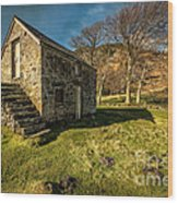 Country Cottage Wood Print by Adrian Evans