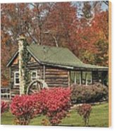 Country Cottage II Wood Print