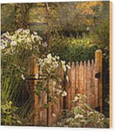 Country - Country Autumn Garden  Wood Print by Mike Savad