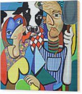 Country Cubism Wood Print