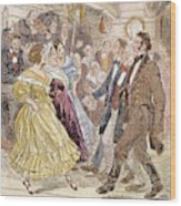 Country Dance, 1820s Wood Print