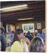 Country Diner Wood Print by Ursula Freer