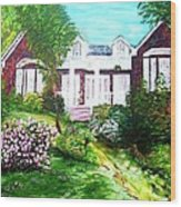 Country Estate In Spring Wood Print