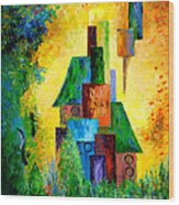 Country Estate Wood Print