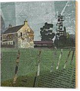 Country Farm Wood Print by Kenneth North