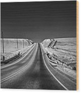Country Farm Road Wood Print