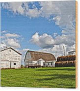 Country Farm Wood Print by Frozen in Time Fine Art Photography