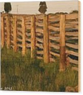 Country Fence In England Wood Print