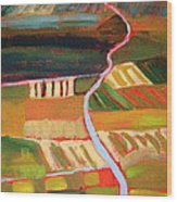 Country Fields Wood Print