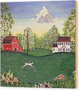 Country Frolic One Wood Print