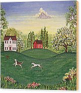 Country Frolic Two Wood Print