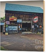 Country Garage Wood Print