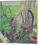 Country Garden Wood Print