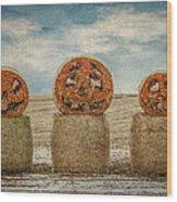 Country Halloween Wood Print