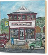 Country Hardware Store Wood Print
