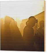 Country Jam Sunset Three Wood Print