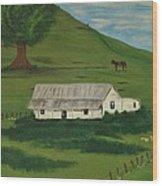 Country Life Wood Print by Melanie Blankenship