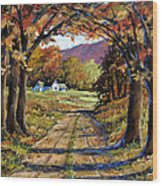 Country Livin  Wood Print