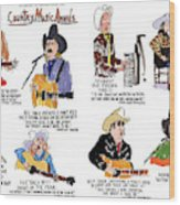 Country Music Awards Wood Print