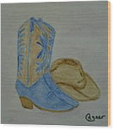 Country Music Wood Print
