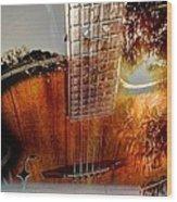 Country Music Digital Guitar Art By Steven Langston Wood Print by Steven Lebron Langston