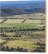 Country Panorama Wood Print