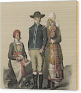 Country People From Ingelstad Wood Print