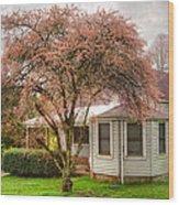 Country Pink Wood Print by Debra and Dave Vanderlaan
