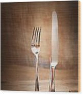 Country Place Setting. Wood Print