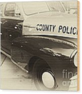 Country Police Antique Toned Wood Print
