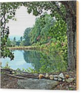 Country Pond Wood Print