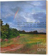 Country Rainbow Wood Print