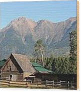 Country Ranch In Mountains Wood Print