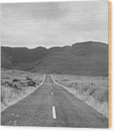 country road heading off into the Connemara mountains County Galway Wood Print