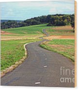 Country Road In France Wood Print by Olivier Le Queinec