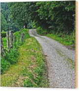 Country Road Wood Print by Frozen in Time Fine Art Photography