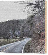 Country Road Take Me Home Photo Wood Print