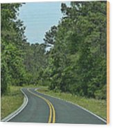 Country Road Wood Print by Victor Montgomery