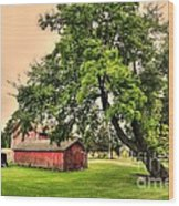 Country Scene Wood Print by Kathleen Struckle