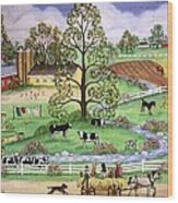 Country Scene Wood Print