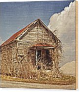 Country Schoolhouse  Wood Print