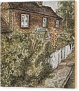 Old English Cottage Wood Print