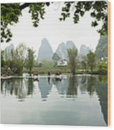 Country Side In Southern China Wood Print