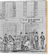 Country Store, 1847 Wood Print