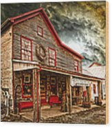 Country Store Washington Town Ky Wood Print